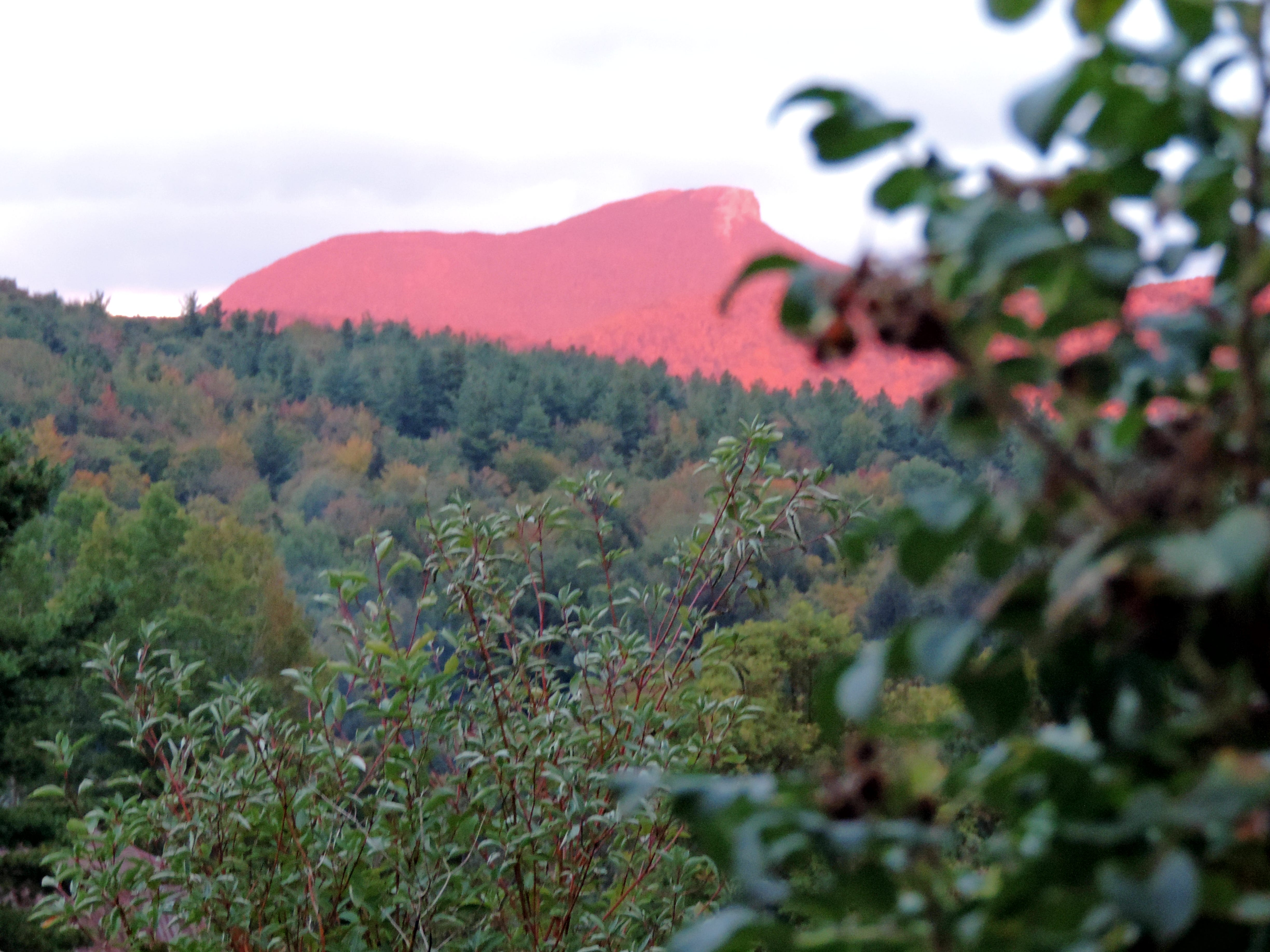Mark Hill of Huntington submitted this photo of the sun lights up Camel's Hump on Sept. 29, 2018, seen from his home in Huntington.