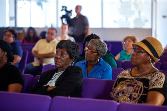 A meeting with Corpus Christi residents and city council members and candidates was held to figure out the cityÕs water bill issues across Corpus Christi, and in the Hillcrest neighborhood, at Brooks AME Worship Center on Thursday, October 4, 2018.
