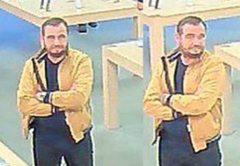 Police seek this man in reference to a fraud at the Apple Store on Sept. 28.
