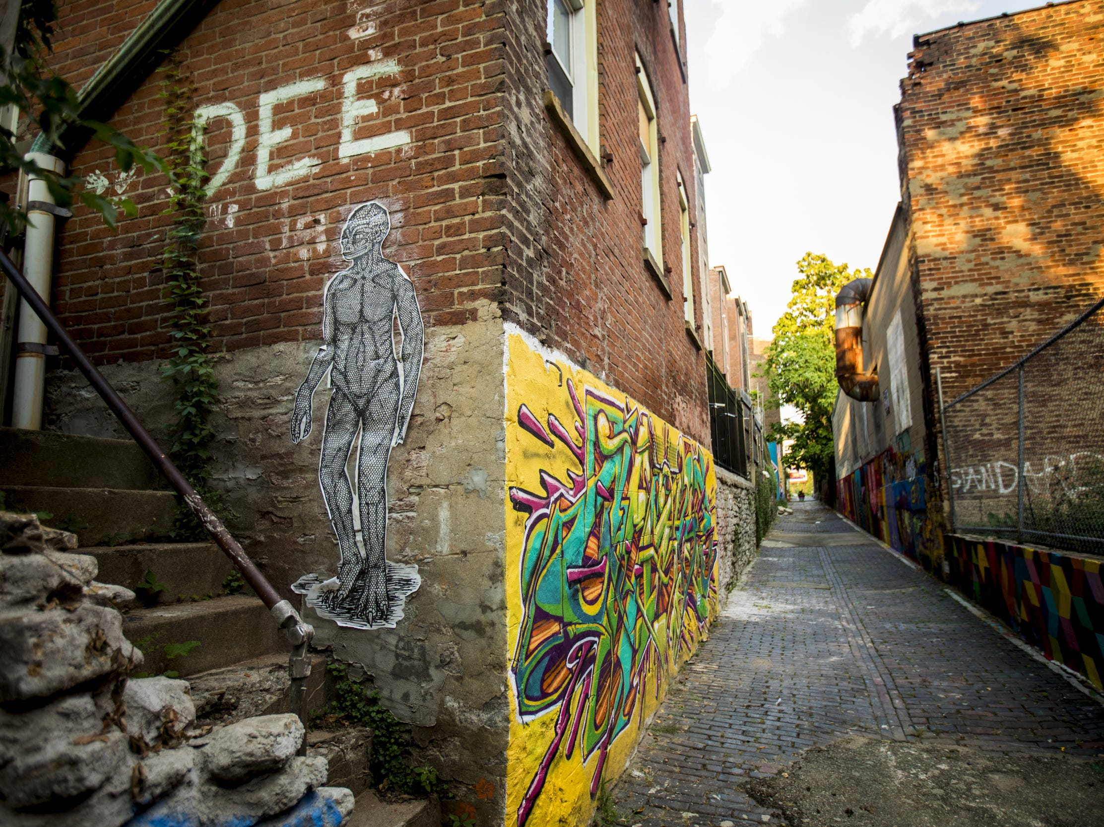 ArtWorks added 14 murals to Bolivar Alley in Pendleton.