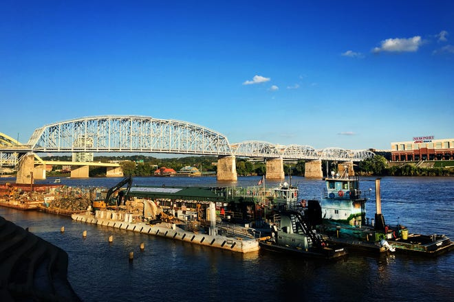 Living Lands and Waters is conducting river clean-ups in Newport and Cincinnati until Wednesday.