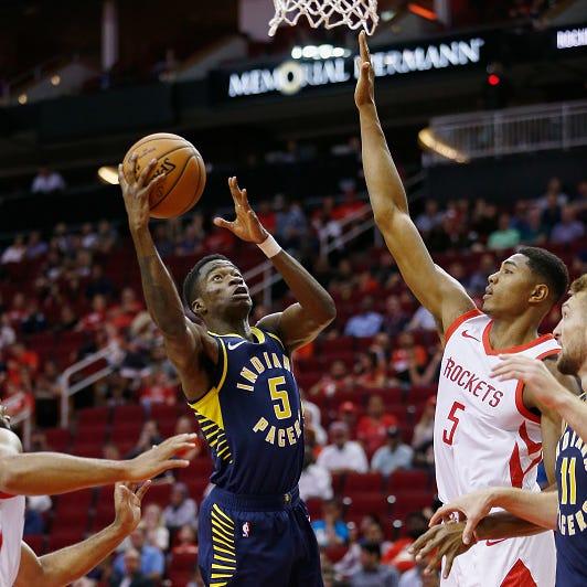 Edmond Sumner of Xavier impresses in Indiana Pacers' preseason opener against Rockets
