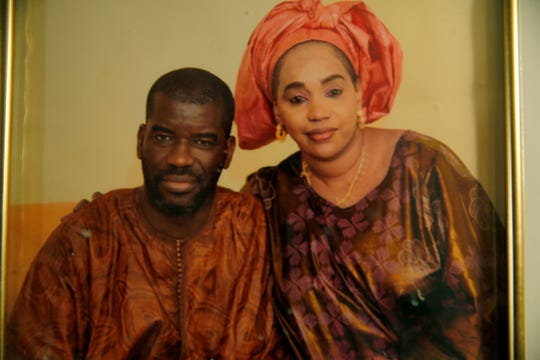 Family photo of Amadou Sow and Aissata Aly, New Year's Eve. Sow born in Mauritania but has lived in the United States since 1991. He was taken into custody by ICE in August. Sow, who worked at a manufacturing company for 20 years in Lebanon, is in danger of being deported back to Mauritania.
