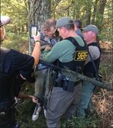 A manhunt ended Friday morning for Kirby Wallace