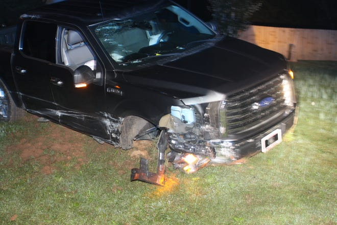 A man was severely injured in a wreck on McClardy Road Thursday night, Oct. 4, 2018, in Clarksville.