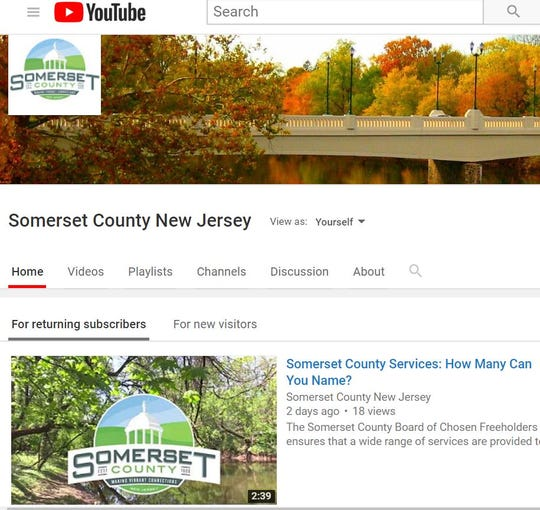Somerset County has its own YouTube channel.Itsvideos, which feature a variety of topics, can be found at http://bit.ly/MySCNJYouTube.