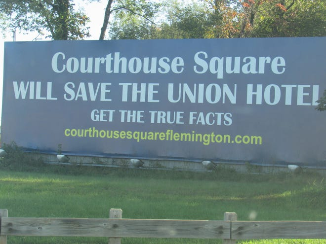 The Flemington Borough Council is expected to Tuesday  on a financial agreement with Jack Cust, the developer of the Union Hotel  redeveloper project. Cust has put up a billboard about the project on northbound Route 202 at the Flemington Circle.