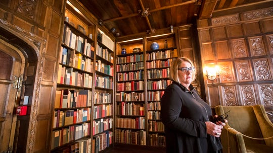 There are about 3,500 books in the Libraryand Rare Documents Collection that datebetween the 12th century and the early1950s at the Salisbury House in Des Moines, Iowa, Thursday, Oct. 4, 2018.