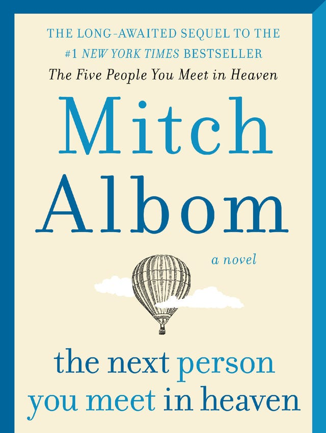 Mitch Albom's 'The Next Person You Meet In Heaven': Excerpt