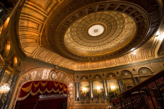 The ceiling has been cleaned and repainted at the Fillmore in downtown Detroit, Friday, October 5, 2018.