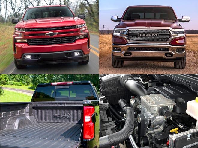 2019 Chevrolet Silverado, left and the 2019 Ram 1500