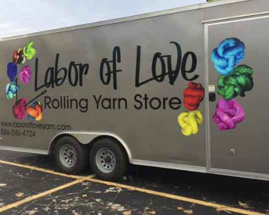 """The """"Labor of Love Rolling Yarn Store"""" is a welcome site for yarn lovers."""