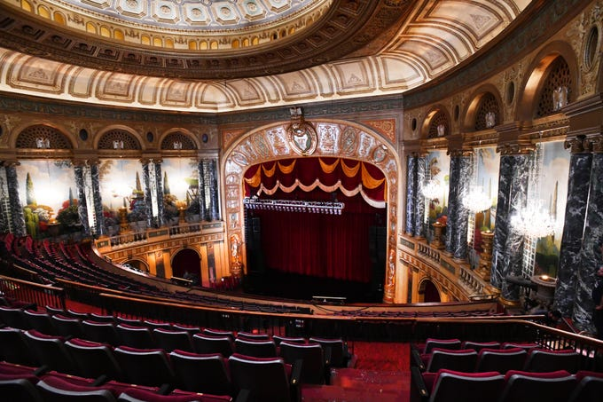 A thorough cleaning as well as a full painting restoration on the ceiling and walls of the main stage area are just some of the improvements to the historic Fillmore Detroit theater, which will reopen to the public Saturday, Oct. 6, 2018, with its first concert since late spring.