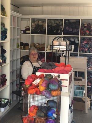 Tina Salgado Inside Her Yarn Truck