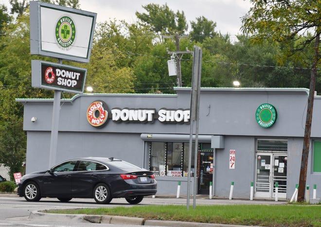 The Holy Moly Donut Shop in Detroit is in the same building as Unified Collective, a medical marijuana dispensary.