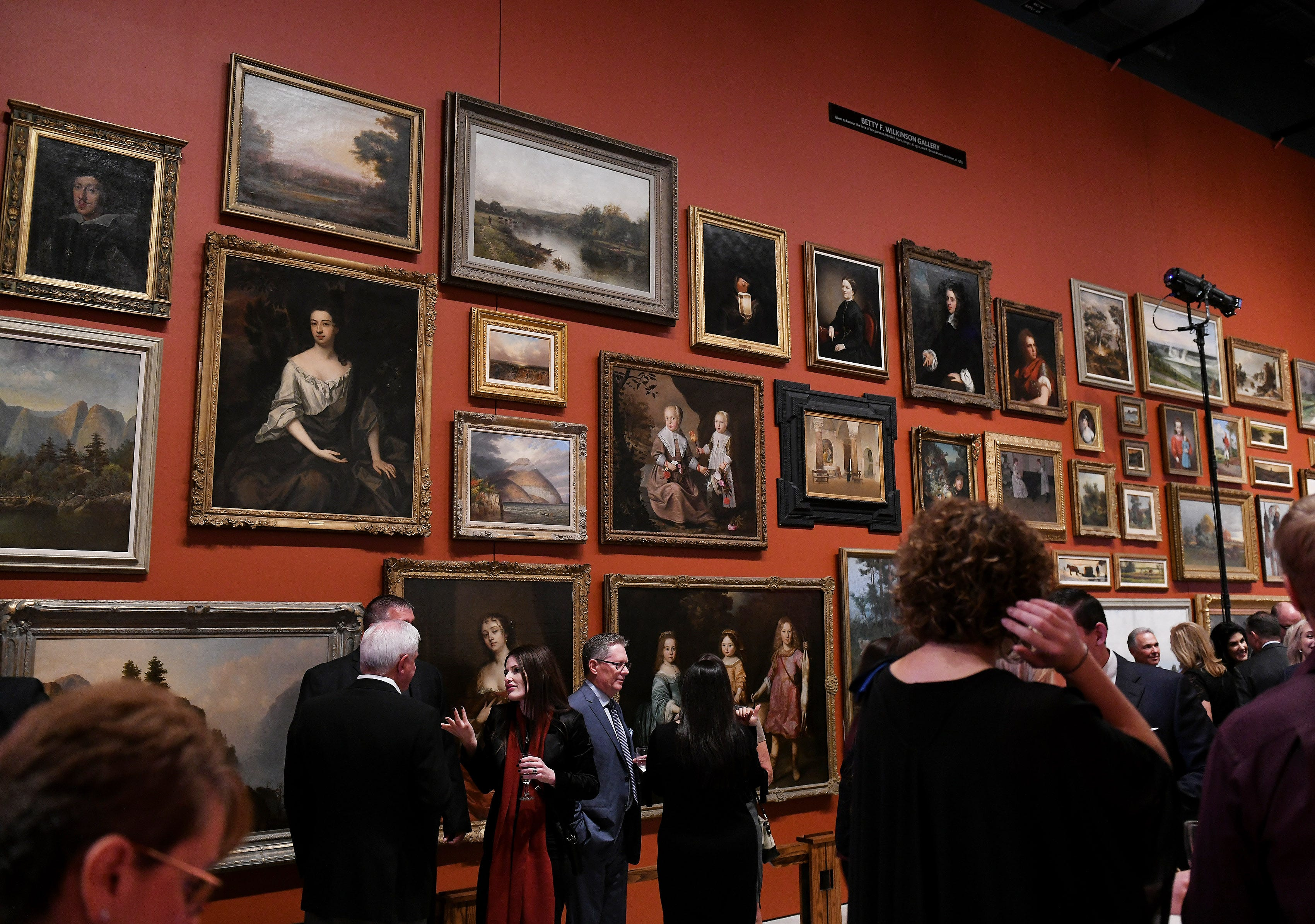 """Attendees wait for the Canadian prime minister Justin Trudeau speaks at an event billed as """"An Evening with Rt. Hon. Justin Trudeau."""" at the Windsor Gallery of Art in Windsor, Ontario on Oct 4, 2018."""