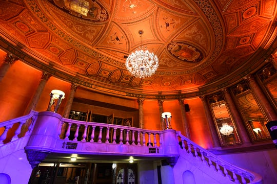 A new chandelier hangs from the main lobby ceiling where Detroiters and music lovers from around the world have passed to see an impressive list of artists since 1925.