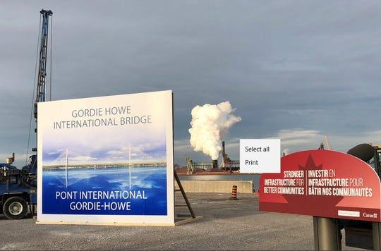 Site of the future Gordie Howe Bridge