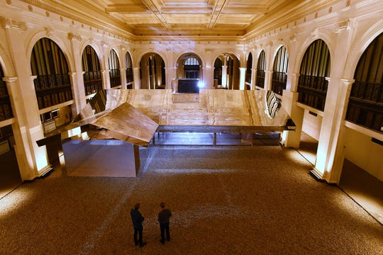 """Los Angeles artist Doug Aitken and his """"Mirage Detroit"""" project in the old People's State Bank."""