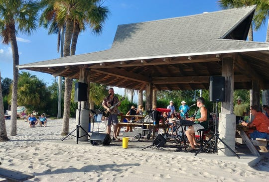 The Sunset Celebration in Cape Coral is the first Wednesday of the month, October through April at the Yacht Club park. It features music, vendors and, of course, the sunset.