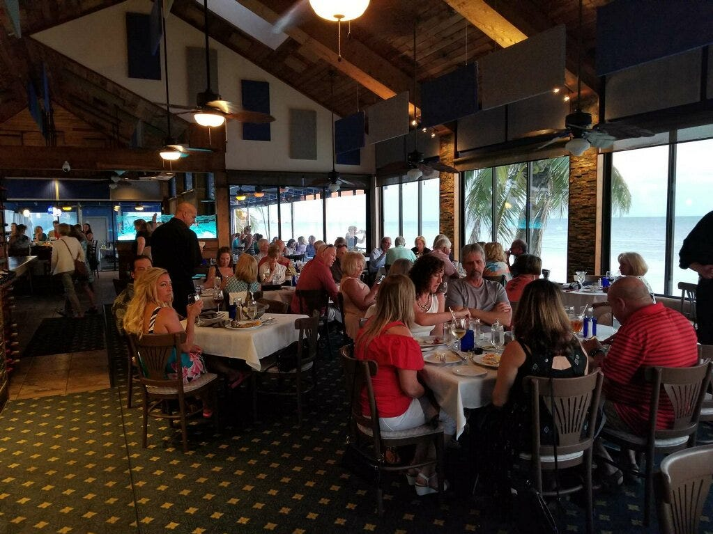 Fresh Catch Bistro on Fort Myers Beach is famous for its sunset views and fresh-caught seafood.