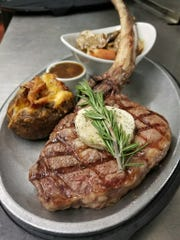 Fresh Catch Bistro has an upscale menu that features dishes such as the charred cowboy tomahawk steak.