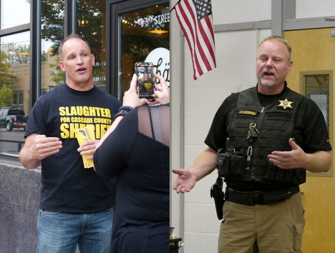 Jesse Slaught, left, and Bob Rosipal are the two candidates in the 2018 Cascade County Sheriff race.