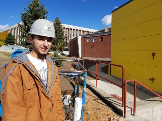 During his senior year at C.M. Russell, Taylor Jackson found that learning opportunity – both inside the classroom and just outside as the school became a construction site.