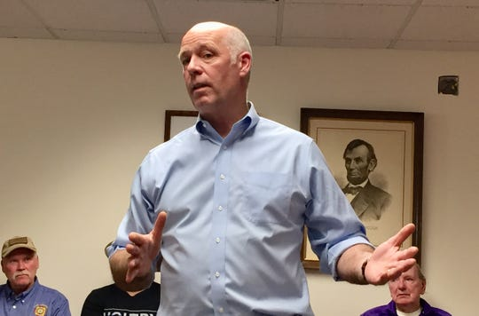 GOP U.S. Rep. Greg Gianforte speaks to supporters in September in Helena.