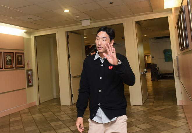 Sexual assault suspect and South Korean professional soccer player, Byong Oh Kim, 30, approaches the courtroom of Judge Arthur Barcinas to attend his trial at the Superior Court of Guam in Hagåtña, Oct. 5, 2018. Kim was charged with the sexual assault of a woman at LeoPalace Resort Guam in January, according to court documents.