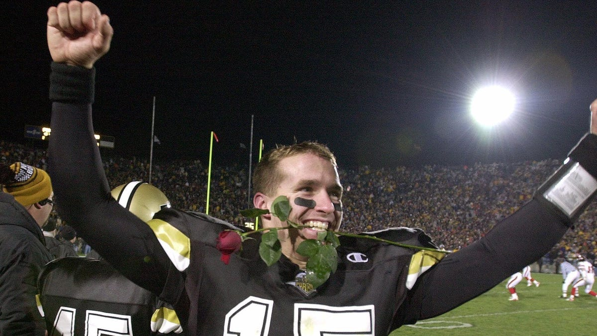 new product 3e7a9 a7503 Drew Brees goes from Purdue underdog to NFL passing record ...