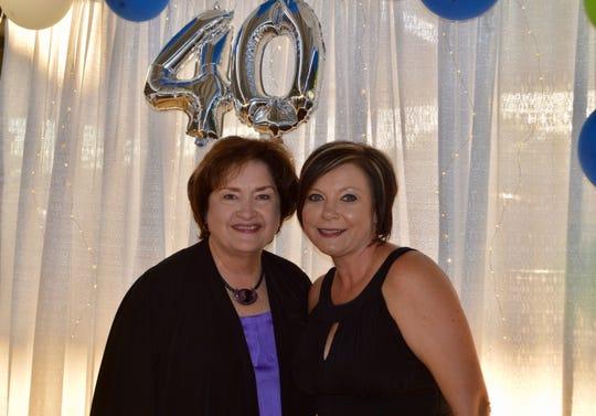 Leadership Jackson past director Judy Renshaw and present director Brandy Stutsman.