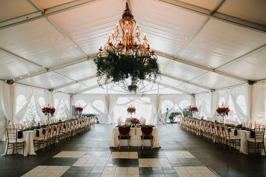 Pictured is a reception space at Dara's Gardens in Knoxville (submitted by Dara Bozdogan)