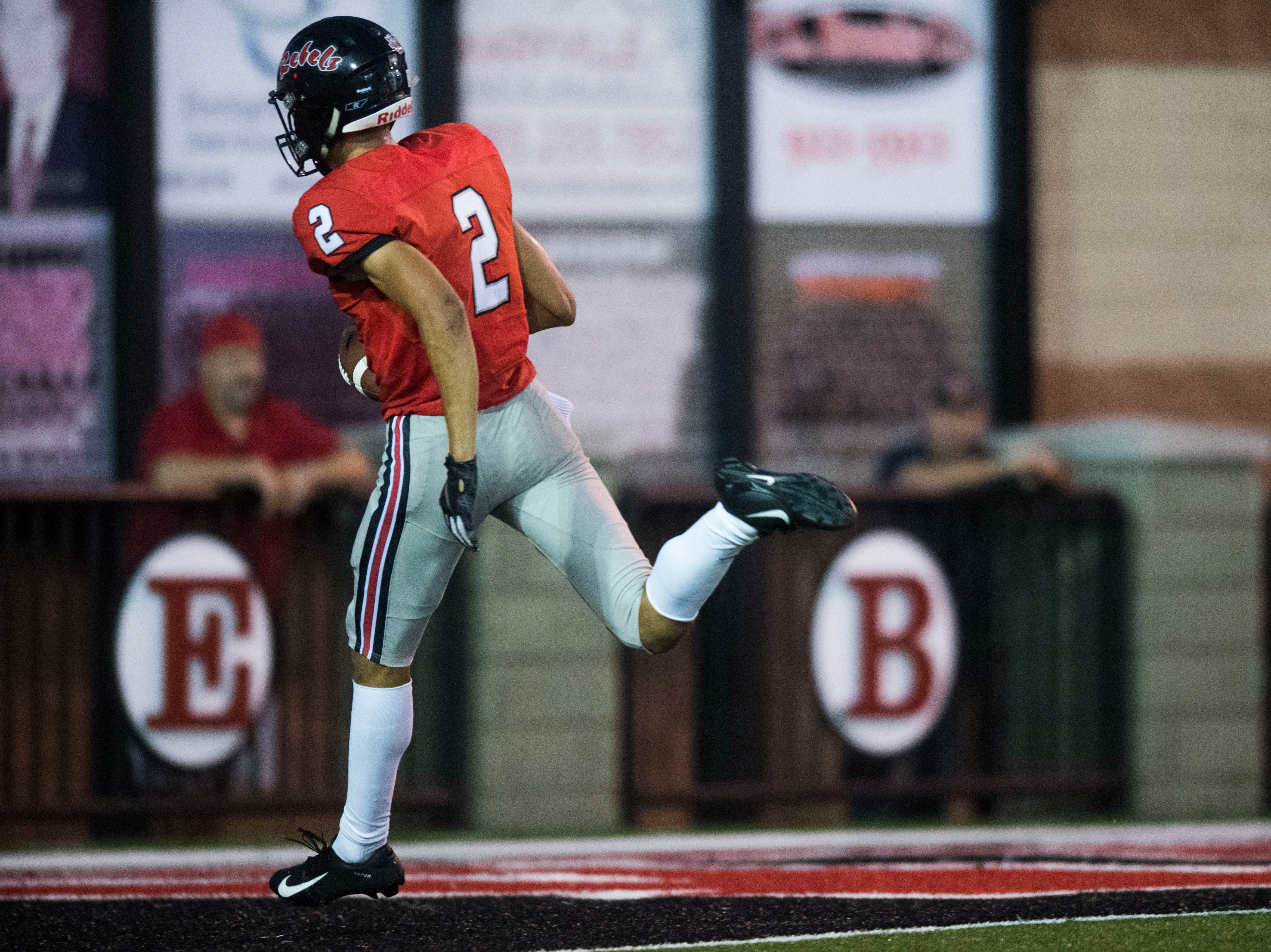 Maryville's Ashton Maples (2) runs into the end zone for a touchdown during a game between Cleveland and Maryville at Maryville Thursday, Oct. 4, 2018. Maryville defeated Cleveland 42-7.