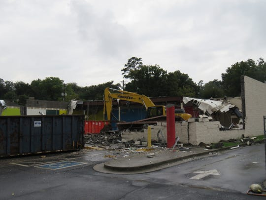Demolition of old CVS building was well underway by Sept. 26, 2018