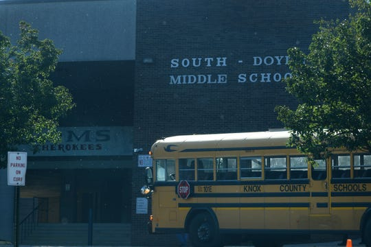South-Doyle Middle School is on lock down Friday, October 5, 2018.