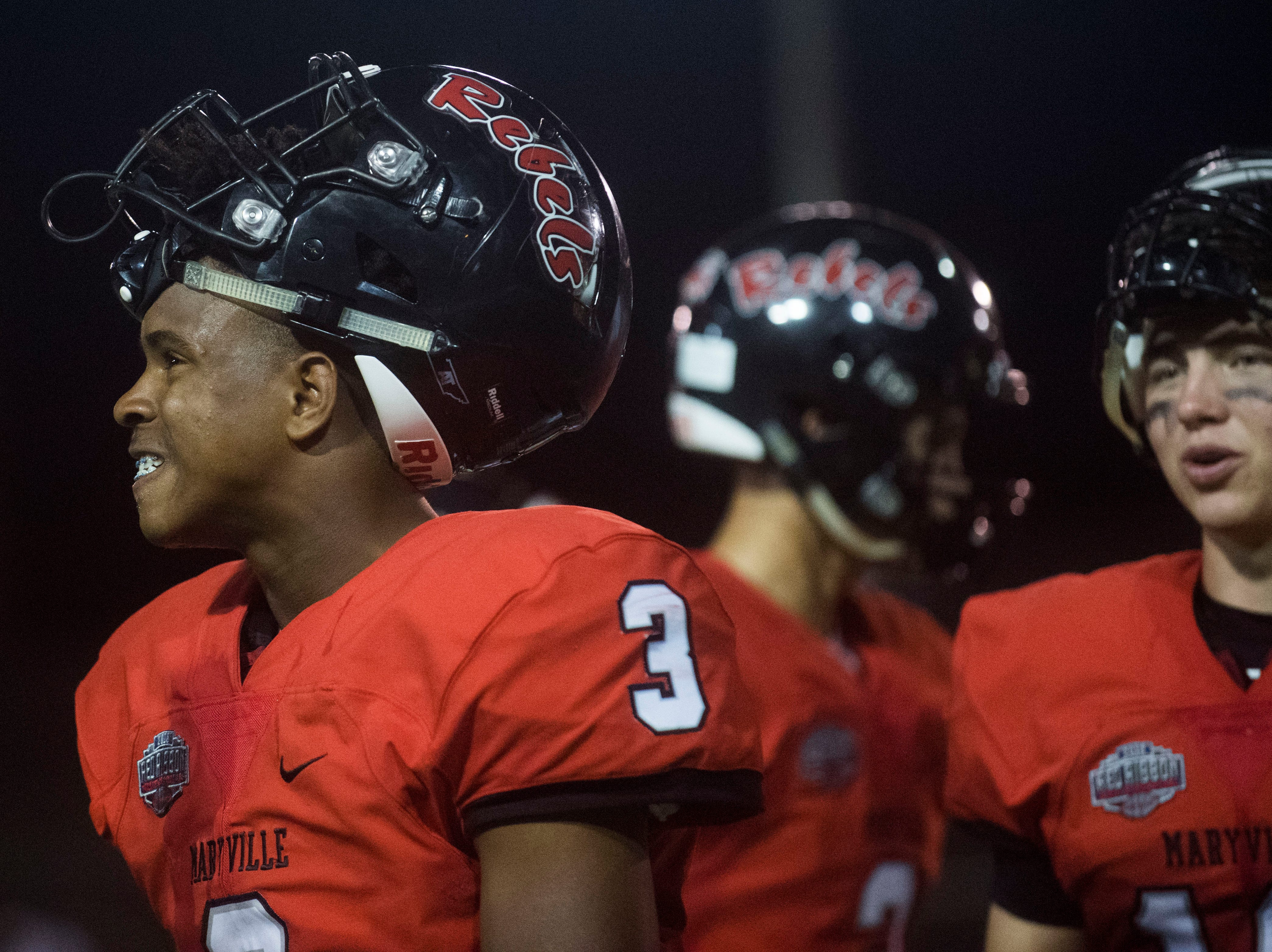 during a game between Cleveland and Maryville at Maryville Thursday, Oct. 4, 2018. Maryville defeated Cleveland 42-7.