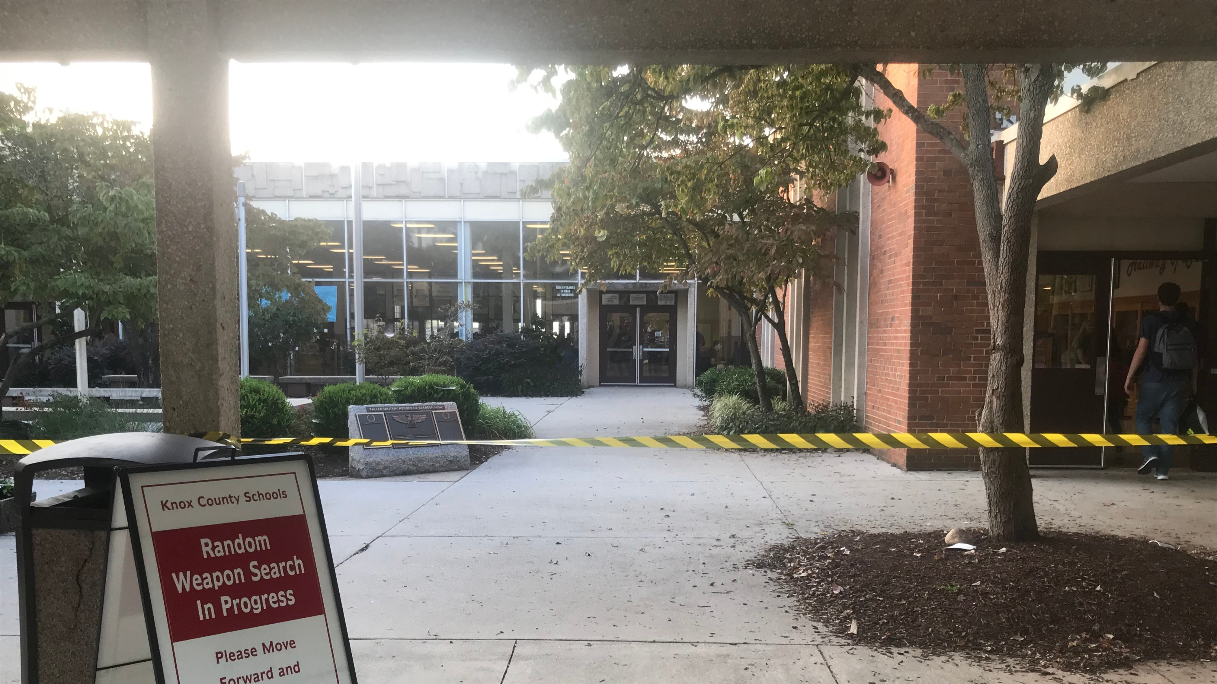 Bearden High students met with increased law enforcement Friday after threat
