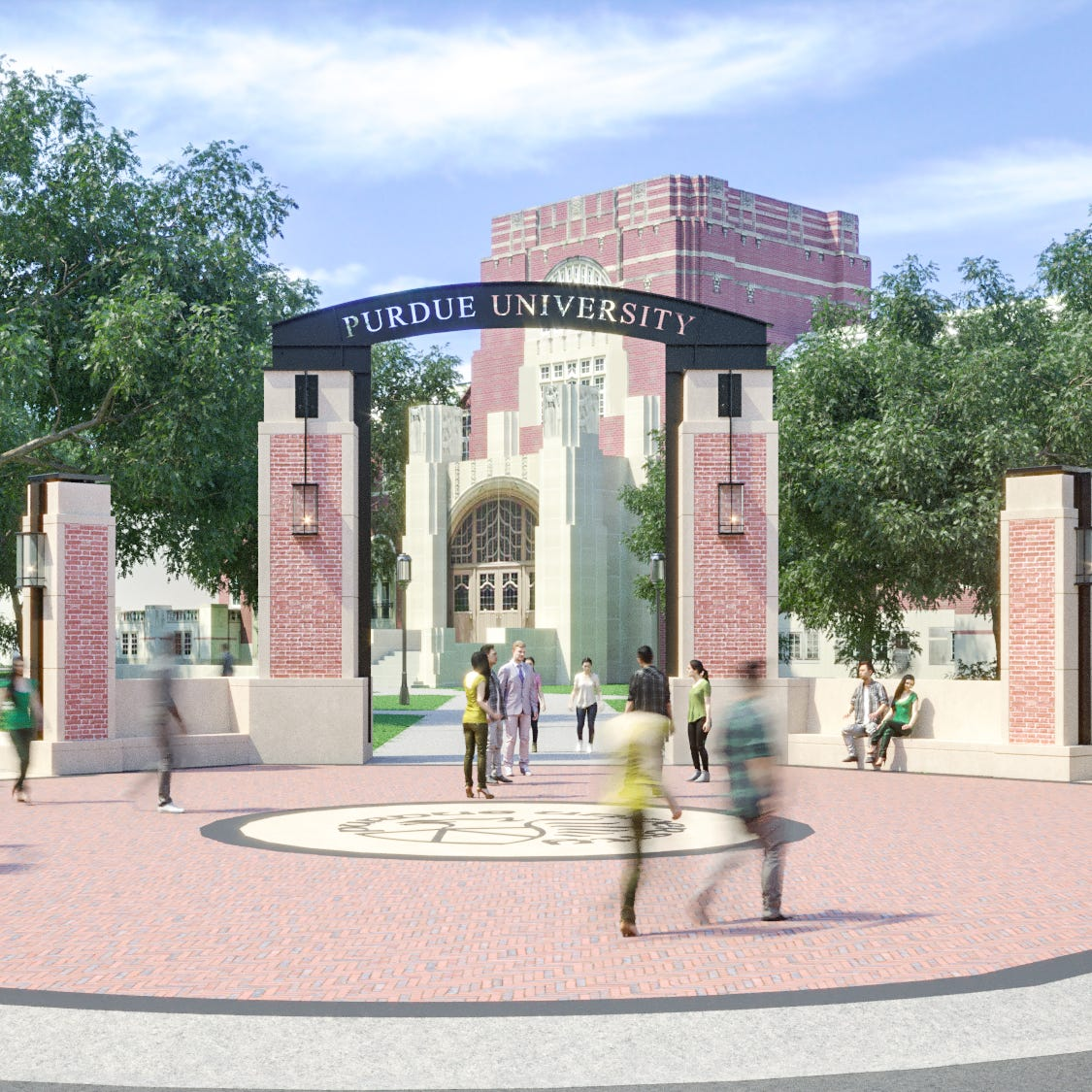 Bangert: Purdue ready for a new, $2M campus gateway at one of its busiest corners