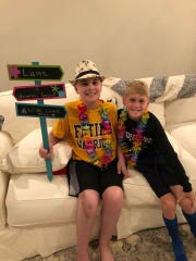 Lane with his brother, Camden. The family went to Hawaii this summer through Make-A-Wish.