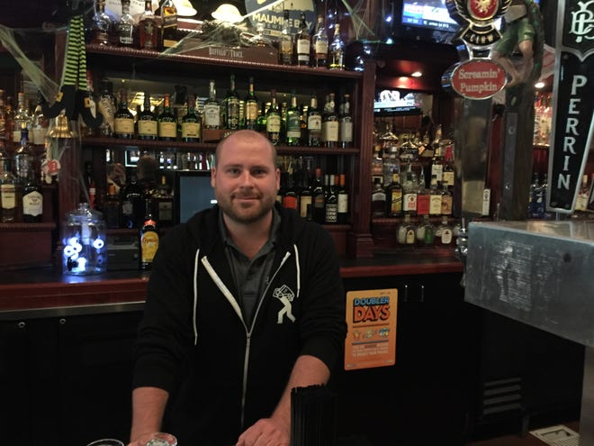 Jameson's Irish Pub and Grill General Manager Drew Hagedon, seen Friday, Oct. 5, 2018, is gearing up for the pub to move to downtown Brighton from it's current location in the Green Oak Village Place Mall.