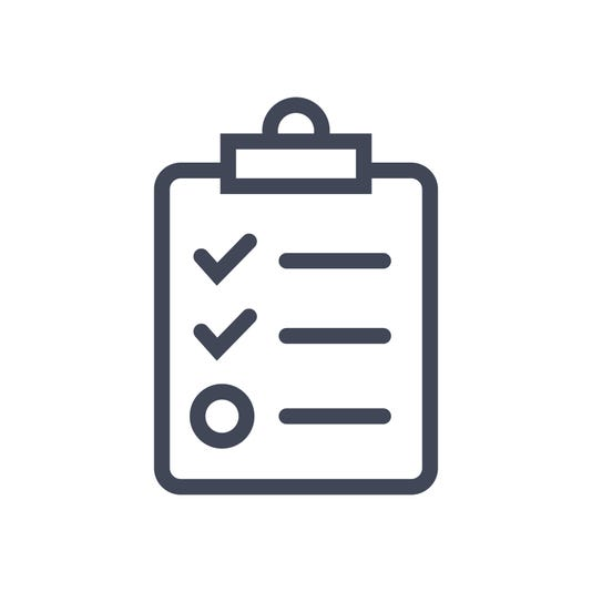 Checklist On Clip Board Icon Flat Graphic Design