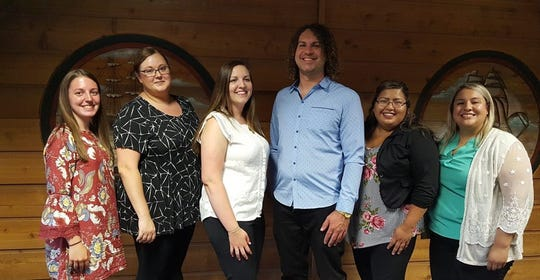 Newly elected PTK officers at Lakeshore Technical College are Kailey Smidel, chapter president; Cailin Fournier, VP of leadership; Julia Sievers, VP of scholarship; Jamie Feldman, VP of fundraising; Amanda Montez, VP of fellowship; and Cynthia Lopez, VP of leadership. Not shown is Andrea Fink, VP of membership.