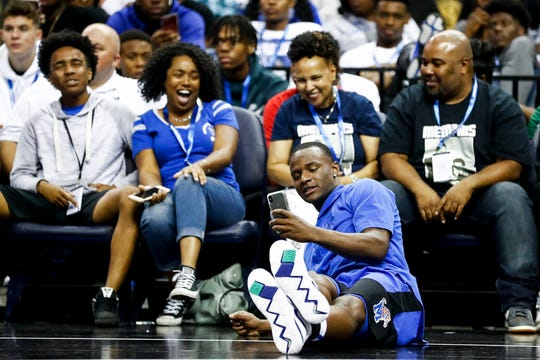 Alex Lomax during Memphis Madness at the FedExForum on Thursday.