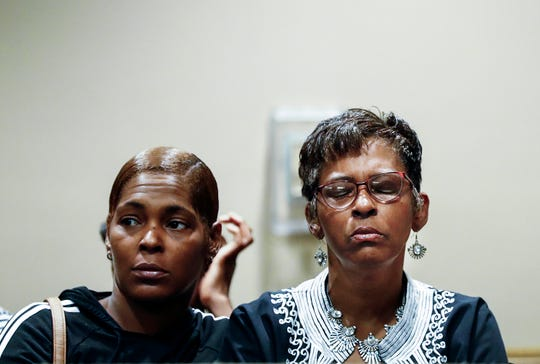 Deborah Marion, mother of  NBA star Lorenzen Wright, attends a court appearance for Sherra Wright and Billy Ray Turner in Judge Lee V. CoffeeÕs courtroom Friday. Wright and Turner are charged with killing her ex-husband NBA star Lorenzen Wright.