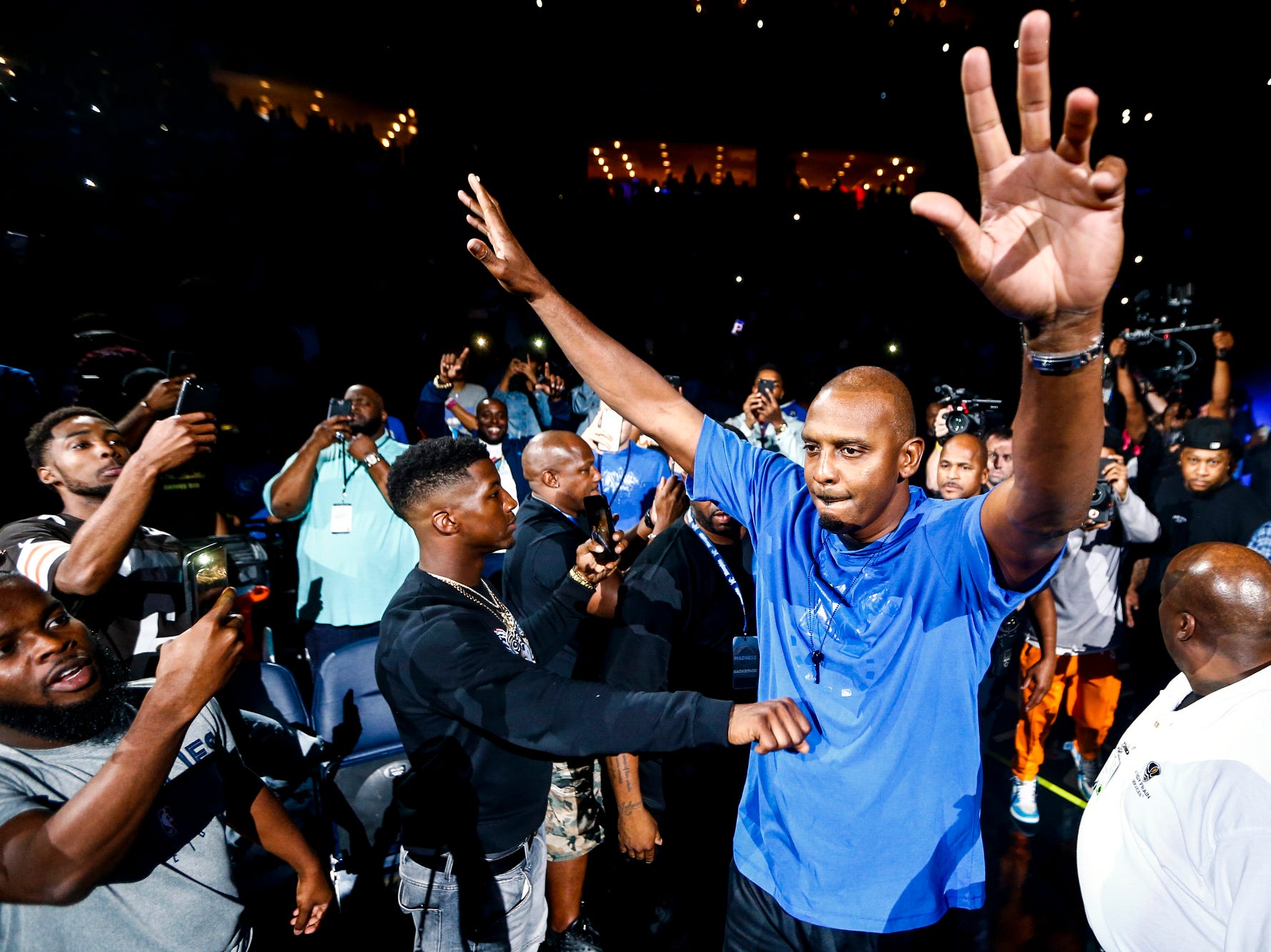 October 04 2018 - Penny Hardaway is seen Memphis Madness at the FedExForum on Thursday, Oct. 4, 2018.