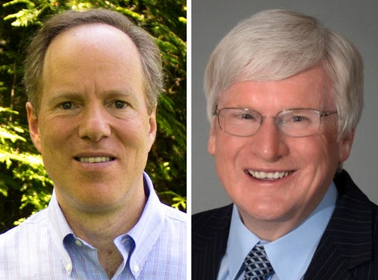 Dan Kohl (left), a Democrat, is challenging Republican U.S. Rep. Glenn Grothman to represent the 6th Congressional District.