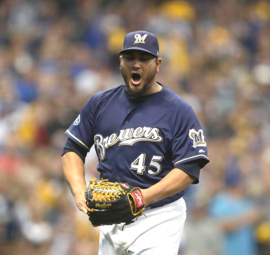 Brewers starting pitcher Jhoulys Chacin took every turn last season, going 15-8 with a 3.50 ERA in 35 starts.