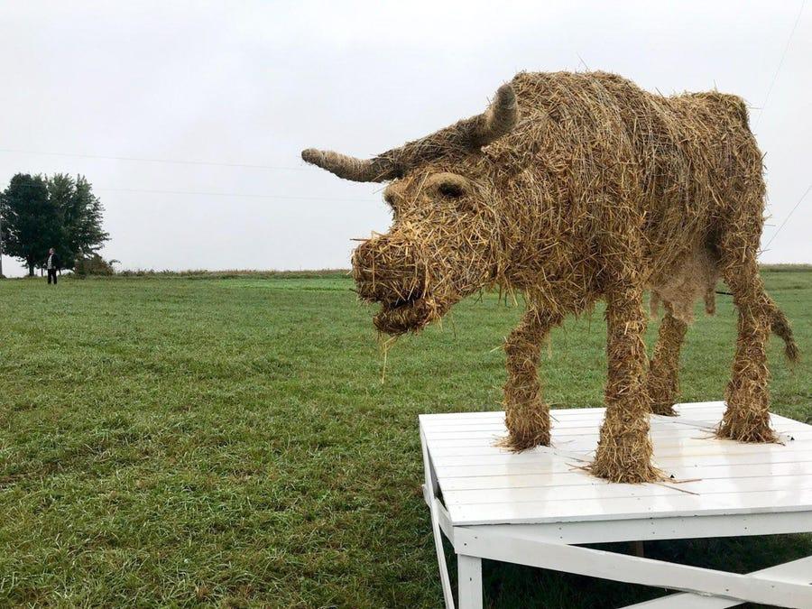 "A ""mystery art"" installation along the Farm Art DTour by Brian Sobaski."