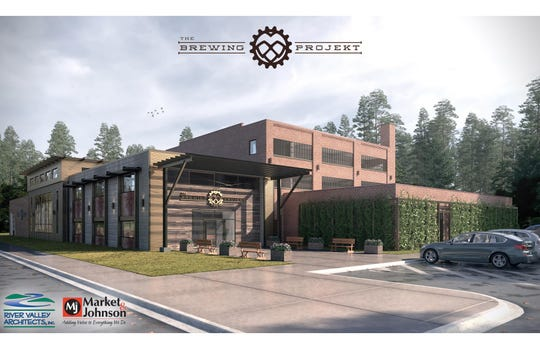 The Brewing Projekt in Eau Claire is renovating its second location. This rendering is how it should look in 2019.